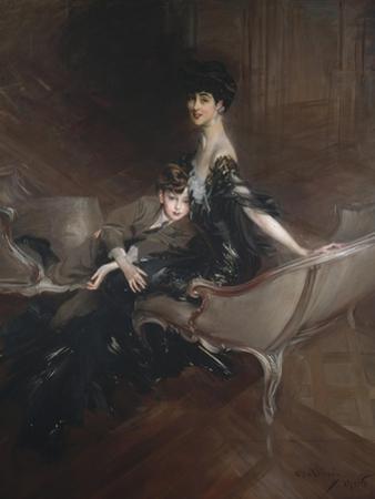 Consuelo Vanderbilt , Duchess of Marlborough, and Her Son, Lord Ivor Spencer-Churchill , 1906