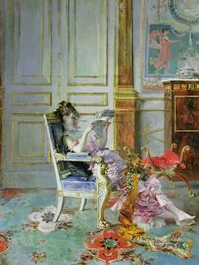 Girl Reading in a Salon, 1876 by Giovanni Boldini