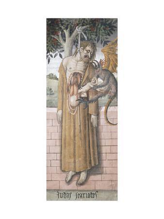 Judas Hanging, Scene from Christ's Passion, Fresco, 1492