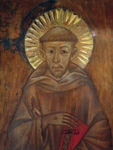 Portrait of St. Francis, C.1285 (Detail) by Giovanni Cimabue