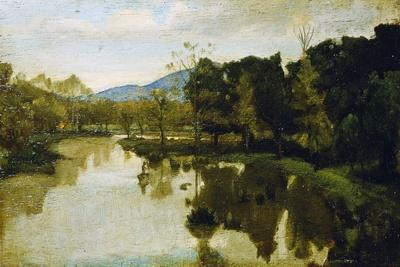 Study for Dead River, 1860, by Nino Costa (1826-1903), Italy, 19th Century
