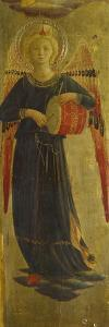 Angel Musician, Detail from the Inner Frame, Tabernacle of the Linen Drapers, 1432-1433 by Giovanni Da Fiesole