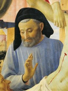 Architect Michelozzo, Detail from Deposition from Cross or Altarpiece of Holy Trinity, Circa 1432 by Giovanni Da Fiesole