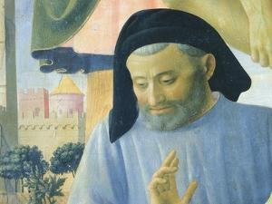 Architect Michelozzo, Detail from Deposition from Cross or Altarpiece of Holy Trinity by Giovanni Da Fiesole