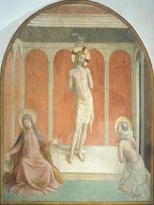 Christ at Column, Virgin and Figure of Penitent Dominican Saint, 1438-1447 by Giovanni Da Fiesole