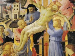 Deposition from Cross or Altarpiece of Holy Trinity by Giovanni Da Fiesole