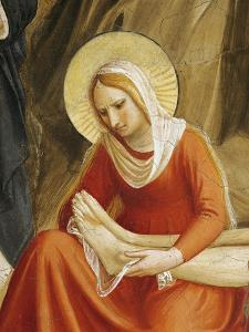 Figure of Mary Magdalene, Detail from Mourning of Christ, 1438-47 by Giovanni Da Fiesole