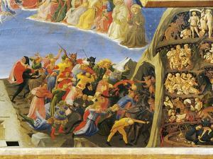 Hell with Demons Organizing Damned, Detail from Last Judgment, 1431 by Giovanni Da Fiesole