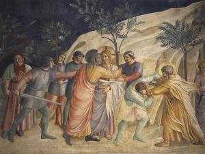 Jesus' Arrest and Judas' Kiss by Giovanni Da Fiesole