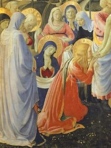 Mary Magdalene and Madonna, Detail from Deposition from Cross or Altarpiece of Holy Trinity by Giovanni Da Fiesole