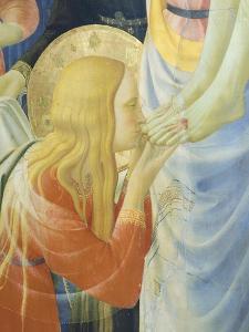 Mary Magdalene Kissing Jesus' Feet by Giovanni Da Fiesole