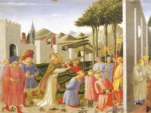 Predella Depicting St Nicholas Saving Three Men Sentenced to Be Beheaded, Perugia Altarpiece, 1438 by Giovanni Da Fiesole