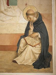 Saint Domenic Intent in Reading by Giovanni Da Fiesole