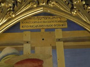 Sign of Cross, Detail from Deposition from Cross or Altarpiece of the Holy Trinity, Circa 1432 by Giovanni Da Fiesole