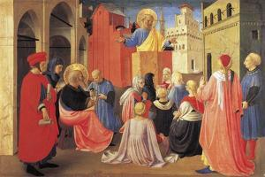 St Peter Preaching the Gospel to St Mark by Giovanni Da Fiesole
