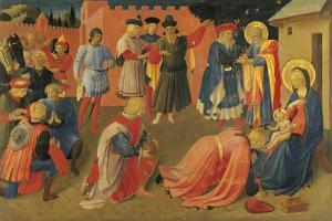 The Adoration of the Magi, Detail from Central Panel of the Predella by Giovanni Da Fiesole