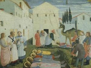 The Burial of Saints Cosmas and Damian by Giovanni Da Fiesole