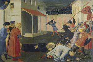 The Martyrdom of San Marco, Detail of the Predella, Tabernacle of the Linen Drapers, 1432-1433 by Giovanni Da Fiesole