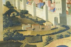 View of Jerusalem, Detail from Deposition from Cross or Altarpiece of Holy Trinity, Circa 1432 by Giovanni Da Fiesole