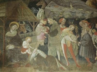 Nativity Scene from the 'Journey of the Magi Cycle', Bolognini Chapel, C.1420