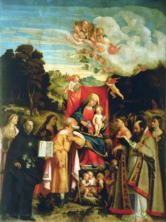 Madonna and Child with Ss. Domenic, Barbara, Catherine and Others