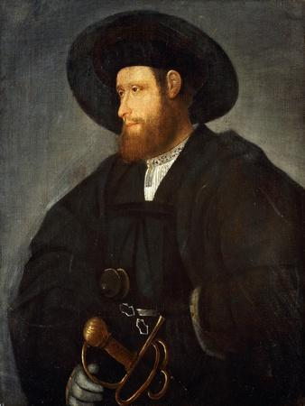 Portrait of a Gentleman, Half-Length, Wearing a Black Costume and a Black Hat