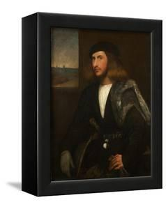 Portrait of a Venetian Nobleman by Giovanni de Busi Cariani