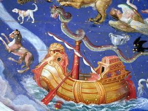 "Scene of the Zodiac Including a Galleon, Detail from the Vault of the ""Sala Del Mappamondo"" by Giovanni De' Vecchi"