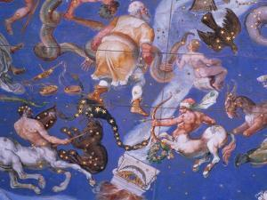 """Signs of the Zodiac Including Battling Centaurs, Detail from the Vault of the """"Sala Del Mappamondo"""" by Giovanni De' Vecchi"""