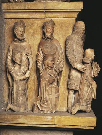 Italy, Milan, Church of Saint Gotthard of Hildesheim, Male Figures