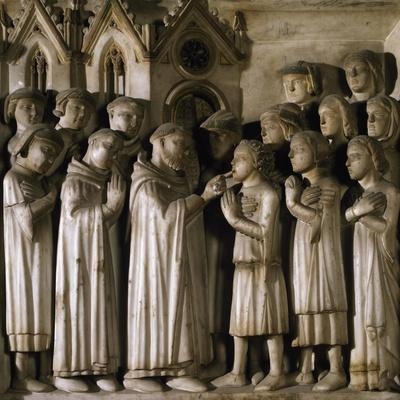 Miracle of Host, Detail from Tomb of Saint Peter Martyr, 1339