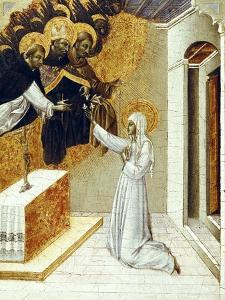 St. Catherine Invested with the Dominican Scapula by Giovanni di Paolo