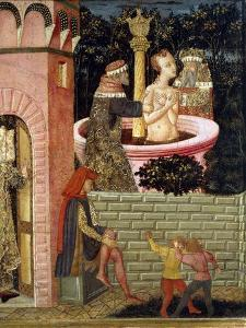 Stories of Susanne, Circa 1450, Front Panel of Painted Chest by Giovanni Di Ser Giovanni