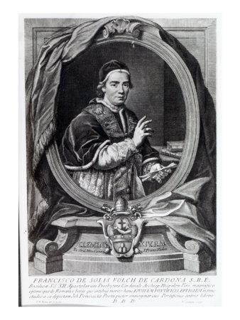 Pope Clement Xiv, Engraved by Domencio Cunego