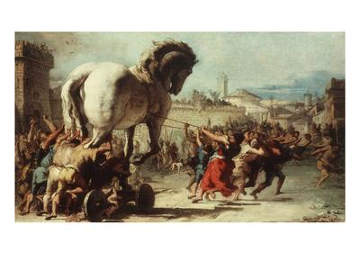 Procession of the Trojan Horse into Troy, C. 1760