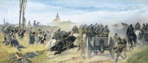 Assault on Madonna Della Scoperta, Circa 1864-1868 by Giovanni Fattori