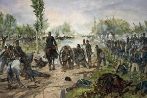 Battle of Custoza, 1880 by Giovanni Fattori