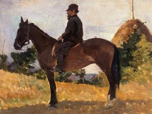 Diego Martelli on Horseback, Modern Art Gallery, Pitti Palace, Florence by Giovanni Fattori