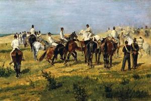 Exercise of Recruits, 1885-1890 by Giovanni Fattori