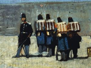 French Soldiers in '59, 1859 by Giovanni Fattori