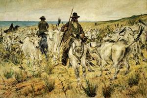 Maremma Herds, 1893 by Giovanni Fattori