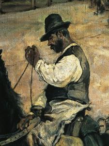 Marking of Young Bulls in Maremma, Circa 1887 by Giovanni Fattori