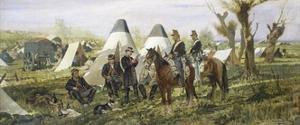 Military Post at Camp, 1874 by Giovanni Fattori