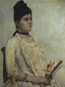 Portrait of Stepdaughter Giulia Marinelli, 1889 by Giovanni Fattori