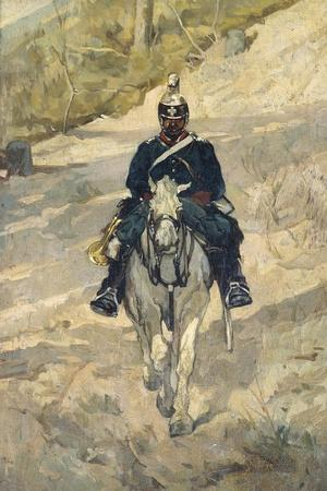 Soldier on Horseback, 1870