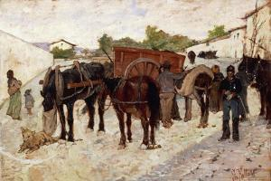 Stopping in Maremma or Scene of Country Life by Giovanni Fattori