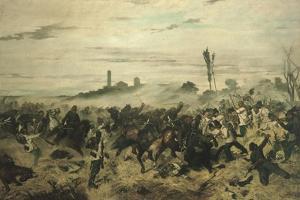 The Battle of Montebello, 1862 by Giovanni Fattori