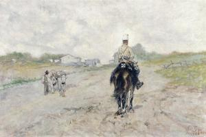 The Trooper by Giovanni Fattori