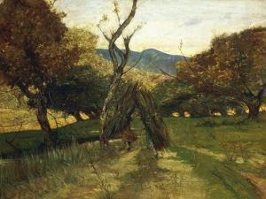 Woodpile, Circa 1874 by Giovanni Fattori