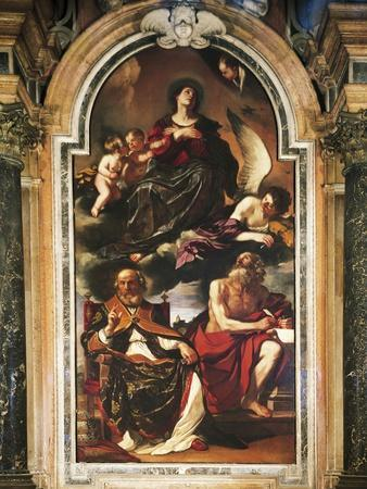 Mary Assumption with St Peter and St Jerome